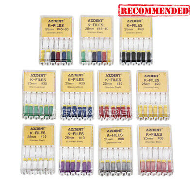 $0.99/Kit Dental Endodontic Hand Use K-Files Stainless Steel 21mm 25mm 6pcs/Kit