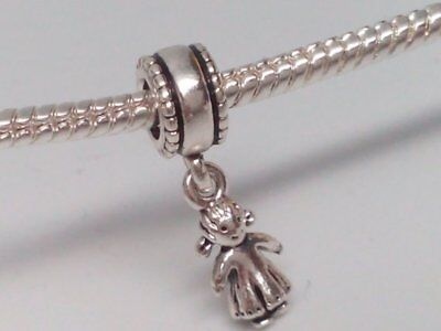e95637680 Authentic Pandora Sterling Silver MY LITTLE GIRL Dangle Charm #790860