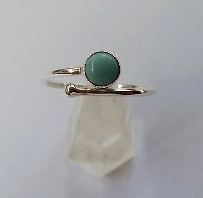 613 Turquoise Solid 925 Sterling Silver Gemstone ring size N/P/R rrp $34.95