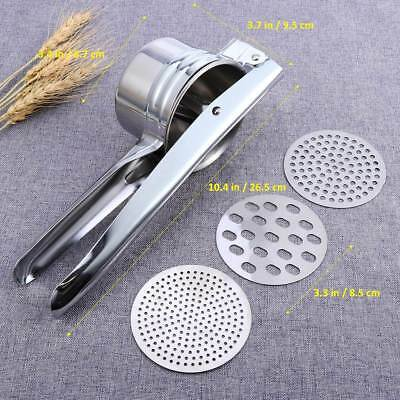 Nice Stainless Steel Manual Juicer Potato Puree Vegetable Fruit Masher Ricer