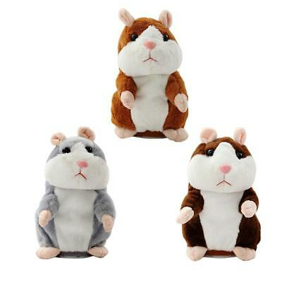 Talking Recording Hamster Repeats What You Say Plush Hamster Doll Toys