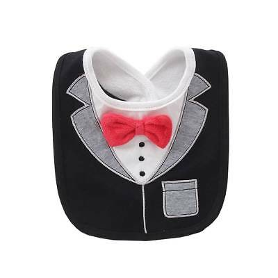 bce9ac2d21f9 Boys Girls Drool Drooling Bibs Bowtie Tuxedo Neck Tie Baby Toddler Infant  ACC