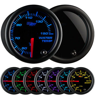 52mm GlowShift Tinted 7 Color Celsius Water Temperature Gauge - GS-T706-C