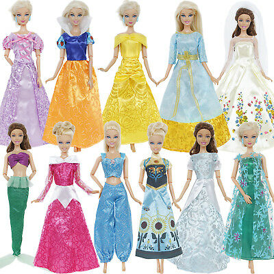 Fashion Fairy Tale Copy Princess Outfit Gown Dress Clothes For Barbie Doll Gift