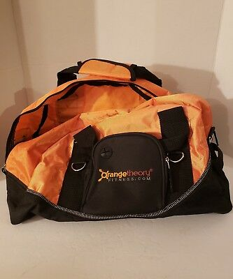eade69c6fd3d ORANGE THEORY FITNESS Gym Duffel Bag Orange Black Workout Bag ...