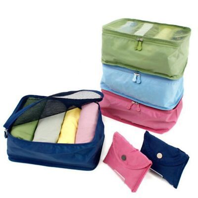 Waterproof Foldable Travel Storage Bags Luggage Organizer Pouch Packing Cube Bag