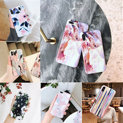 Case For iPhone XS Max XR X 8 7 6s Plus Patterned Thin Hybrid Shockproof Cover