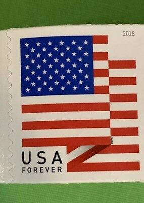 Coil Of 100 Stamps USPS Sealed Roll US Flag 2018 USA First Class Forever