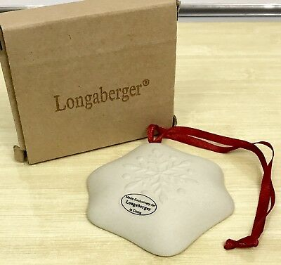 Longaberger Snowflakes Christmas Ornament Cookie Mold
