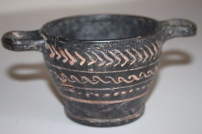 ANCIENT GREEK XENON PAINTED POTTERY SKYPHOS 4th Century BC WINE CUP
