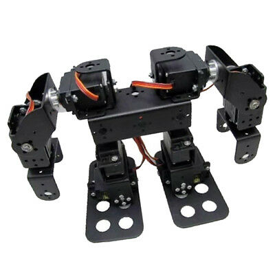 Flexible 8 DOF 2 Foot Biped Bipedal Walking Robot Set w/ 15Kg/cm Servo