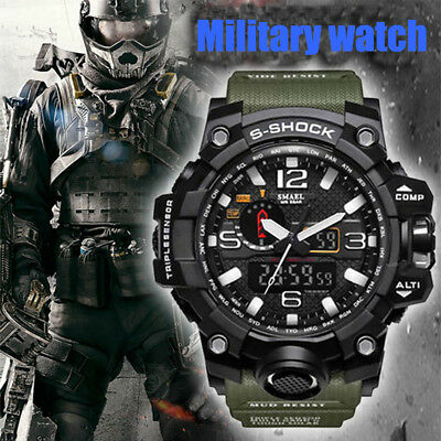 SMAEL Men's Digital Watch Military Quartz Sport Wristwatches Outdoor Hiking UKED