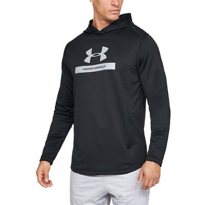Under Armour Mens MK-1 Terry Graphic Hoodie Black Sports Gym Hooded Warm