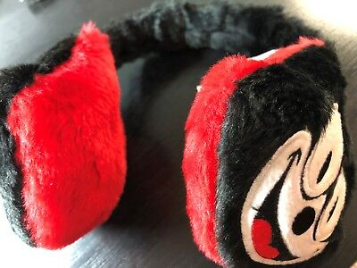 FELIX THE CAT Ear Muffs One Size Child Or Adult Black Red White New NWOT