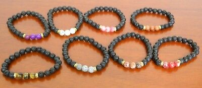 NEW Aromatherapy Lava Rock Bracelet Essential Oil Diffuser Men/Women AntiAnxiety