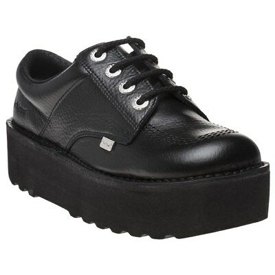 5905cf1ce8 NEW WOMENS KICKERS BLACK KICK LO STACK LEATHER SHOES FLATS - $115.95 ...