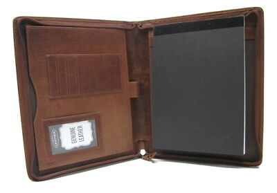 Brown Real Leather A5 Folder Diary holder option to Personalise H0039