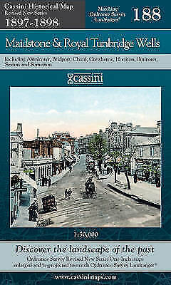 Maidstone and Royal Tunbridge Wells Historical Map (Sheet map, folded)