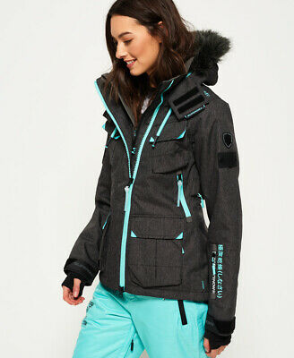 a32ac34b1500 NEW WOMENS SUPERDRY Ultimate Snow Service Jacket Black Grit - EUR ...