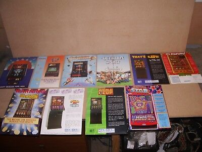 Various old vintage Fruit Machine / Arcade Quiz Machine A4 FLYERS