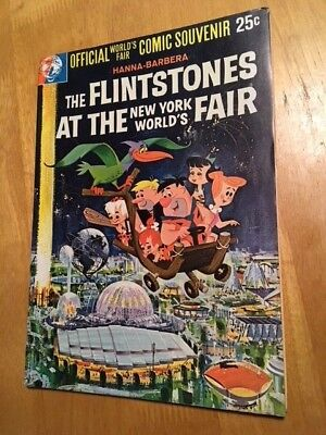 Flintstones at the New York Worlds Fair  Hanna Barbera Comic Official Souvenir