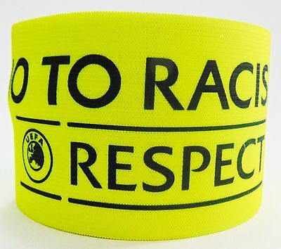 EUFA No to Racism Captain Armband Fascia Capitano Brazalete Capitan Respect