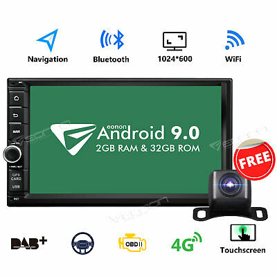 "CAM+ 7"" Android 8.0 Oreo 8Core 4G WiFi In Dash Double 2DIN Car Stereo GPS Navi E"