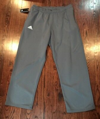 New Men's Adidas Climawarm Athletic Sweat Pants Gray Size XL ( Invisable Zipper)