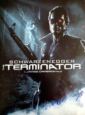 Arnold Schwarzenegger Authentic Signed Terminator 16X12 Photo Aftal#198