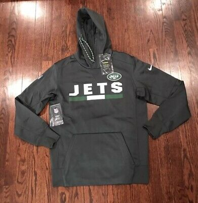 NWT NIKE NFL OnField Apparel New York Jets Black Therma Fit Hoodie  for cheap
