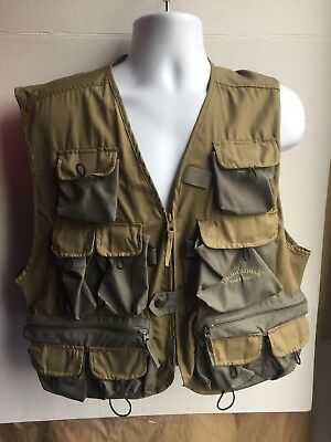 Field and Stream Fishing Vest Fly fishing Mens L Large Green