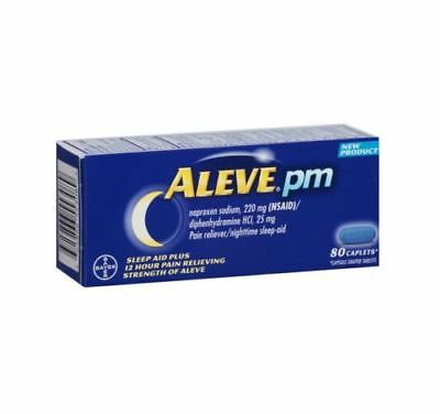 Aleve PM Pain Reliever Nighttime Sleep-Aid Caplets, 80 ea 12/18