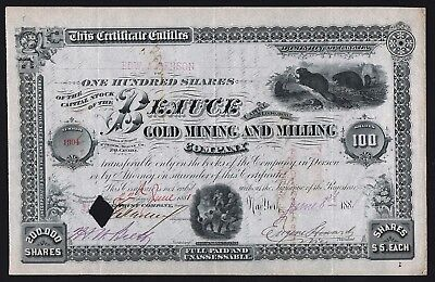 1881 Dominion of Canada: Beauce Gold Mining and Milling Company