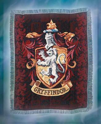 "Harry Potter ""Gryffindor Shield"" Tapestry Throw Woven Blanket 48"" x 60"""
