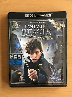 Fantastic Beasts and Where to Find Them (2017, 2-Disc Set, 4K UHD and Blu-Ray)