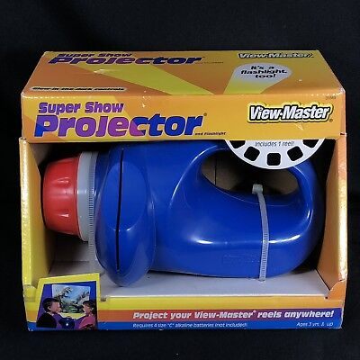 Vintage Mattel VIEW-MASTER Super Show Projector and Flashlight 1 Slide Reel NEW