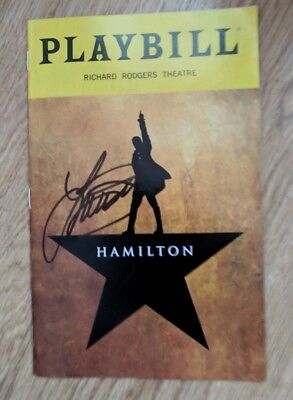 Lin Manuel Miranda's Hamilton Broadway Theater Musical July 2018 Playbill signed