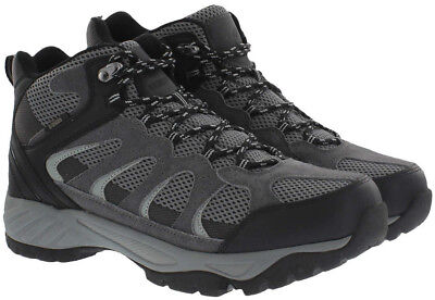Khombu Men's Tyler Suede Leather All Terrain Hiking Boots - Black/Gray - Size 10