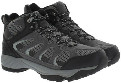 Khombu Men's Tyler Suede Leather All Terrain Hiking Boots - Size 10 - Black/Gray