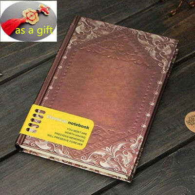 Retro Vintage Journal Diary Classic Notebook Blank Hard Cover Sketchbook Paper