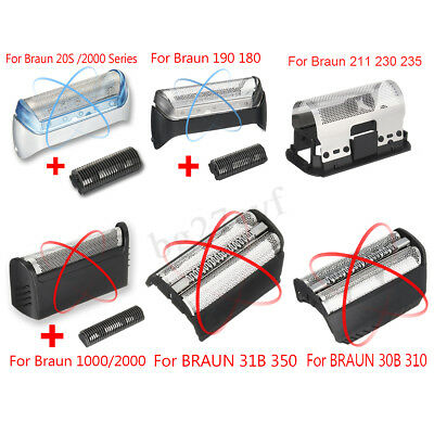 Shaver/Razor Foil Set Replacement For Braun 20S /2000 1000 30B 31B 350 190 180