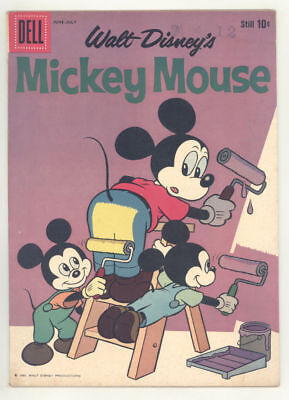 1960 MICKEY MOUSE #72 comic book with BUTT PAINTING COVER. Fine