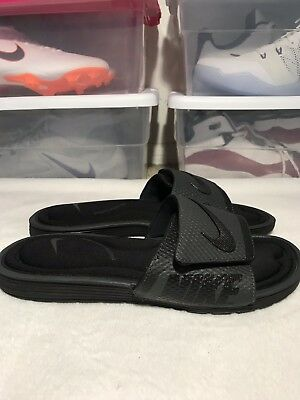 292d4734bce Nike Solarsoft Comfort Slide Mens 705513-090 Black Anthracite Sandals Size 7
