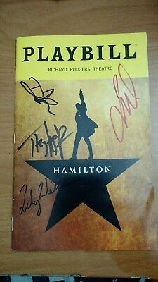 Lin M Miranda's Hamilton Broadway Theater Musical Oct 2018 Playbill signed by 4