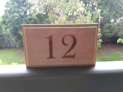 House Gate Sign Plaque Door Number Personalised Name Plate Wooden House Number