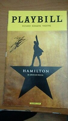 Lin Manuel Miranda's Hamilton Broadway Theater Musical Oct 2016 Playbill signed