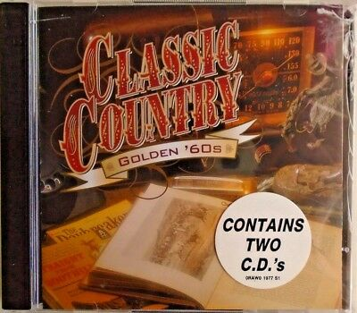 CLASSIC COUNTRY - 2 CDS - Golden '60s - BRAND NEW