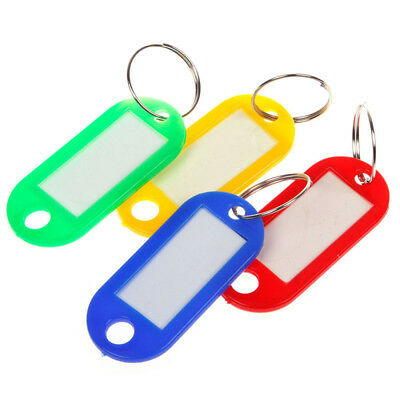10pcs Keychain Blanks Key Ring ID Label Tags Baggage Luggage Tags Random Color