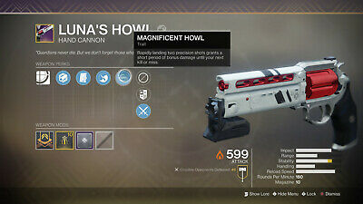 Destiny 2 Shadowkeep Luna's Howl Full Quest+rating 1 day Recovery Ps4/PC/Xbox