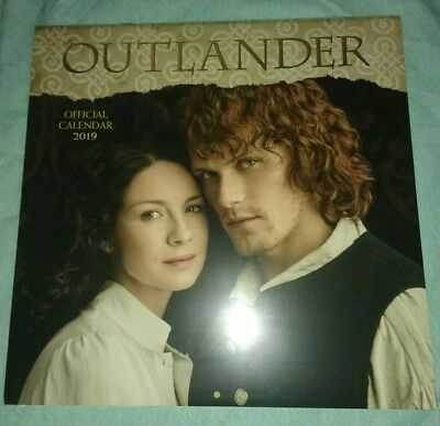 Outlander - Officially Licensed 2019 Calendar -New/sealed - UK Series